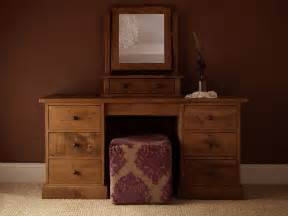 rustic dark brown table dresser vanity with drawers and