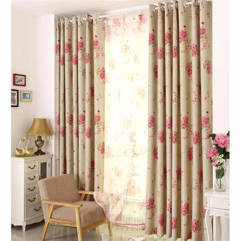 living room curtains in red with polyester loading zoom rose red floral print polyester insulated country curtains