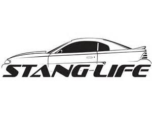 1964 Mustang Black Stang Life Sticker Sn95 Black Vinyl Decal Mustang Stang Life Inc