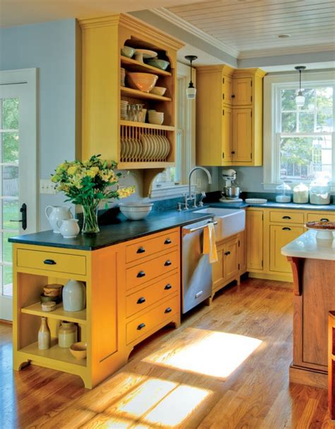 yellow painted kitchen cabinets colorful painted kitchen cabinets homchick stoneworks inc