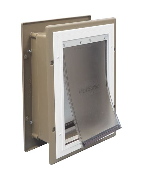 petsafe doors medium petsafe aluminum frame wall mount entry pet doors free shipping new ebay