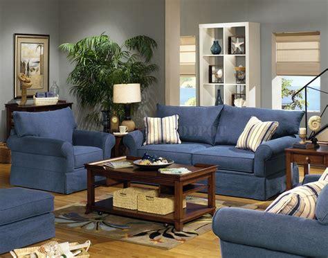 denim sofa and loveseat blue living room furniture sets blue denim fabric modern