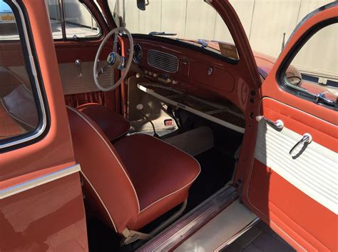 vw beetle upholstery 1957 volkswagen oval window bug bring a trailer