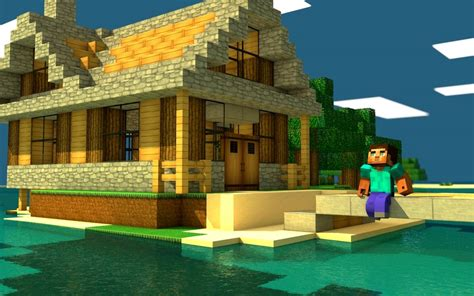 mine craft houses download minecraft house wallpaper