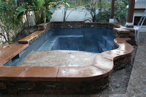 Backyard Spool by Spool Construction Mediterranean Pool Los Angeles