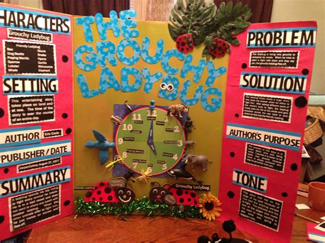 tri fold book report projects reading fair project the grouchy ladybug reading fair