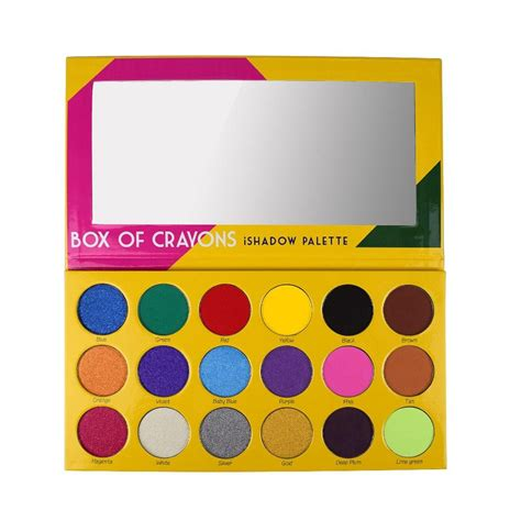 The Shadow Palette crayon box of crayons eye shadow palette swatches