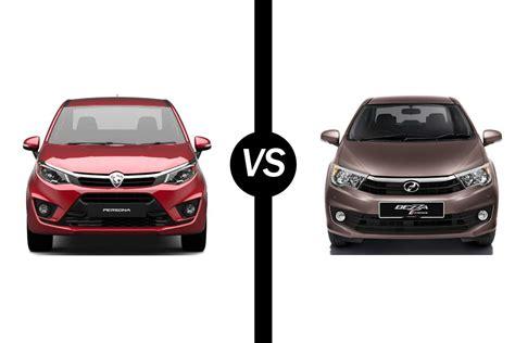 perodua myvi vs proton new saga blm review comparison head to head proton persona 1 6 premium vs perodua bezza