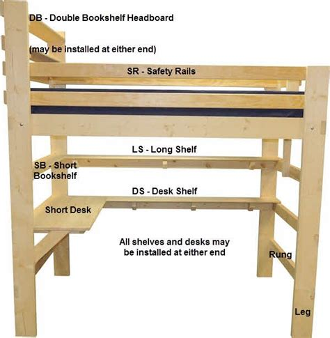 lofted bed best 25 loft beds ideas on size