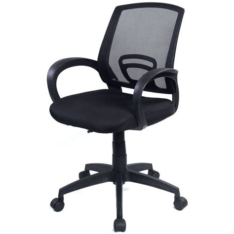 Ergonomic Office Desk Chair New Ergonomic Mesh Computer Office Chair Desk Task Midback Task Black New Ebay