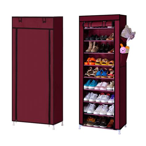 Shoe Rack With Dust Cover by 9 Tiers Easy Diy Shoe Rack With Dust Cover
