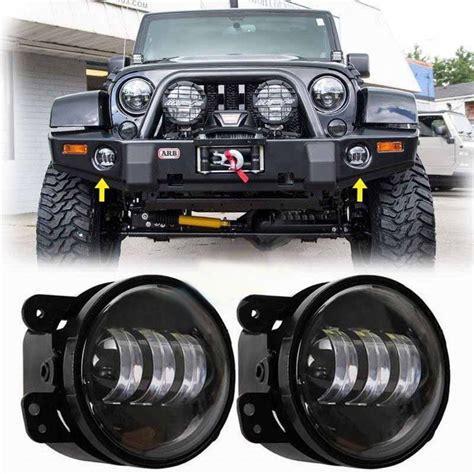 jeep wrangler led fog lights led 4 fog lights jk jku auto line