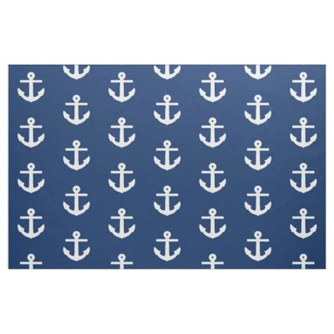 fabric pattern anchor navy anchor pattern fabric zazzle