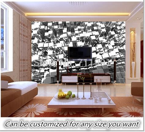 ordinary Supplies For Painting A Room #1: Free-shipping-custom-3D-Silver-Blocks-Abstract-Wall-Mural-Wallpaper-living-room-bedroom-background-wallpaper.jpg
