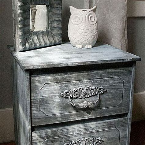 chalk paint americana weathered nightstand using americana decor chalky finish