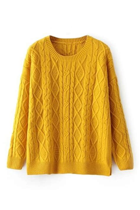 yellow knitted jumper yellow sweaters for