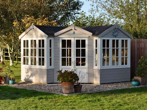 log cabin l shades summer houses essex cuprinol muted clay and pale
