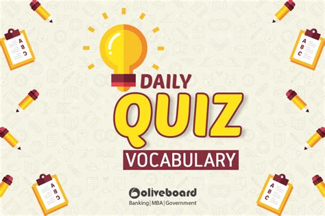 Mba Words Vocabulary by Oliveboard Daily Quiz For Banking Mba Exams Vocabulary