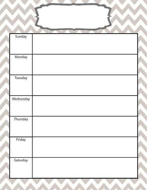 template for weekly calendar weekly calendar weekly calendar template