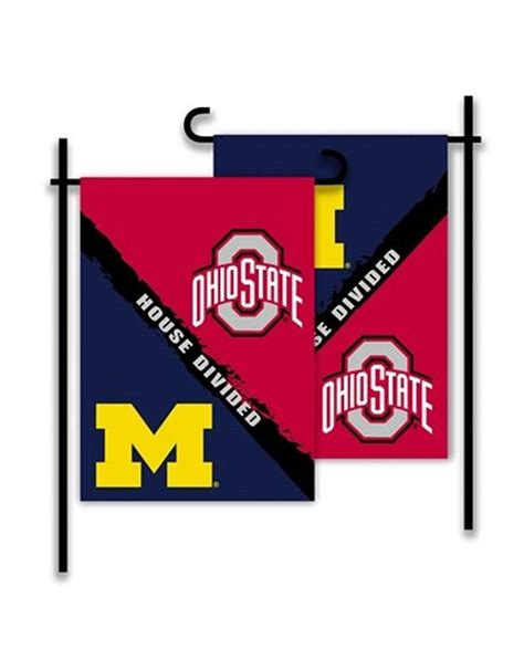 sided house divided ohio state  michigan
