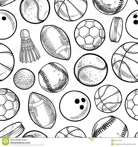 sport pattern background free seamless sports background stock vector illustration of