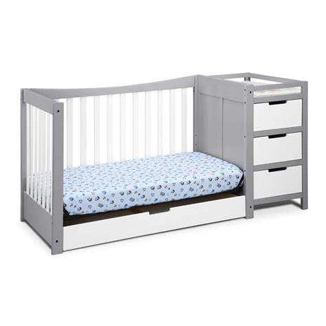 graco remi 4 in 1 convertible crib and changer in white