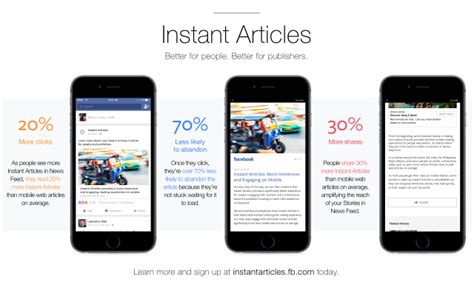 Fb Instant Articles | instant articles now open to all publishers facebook media