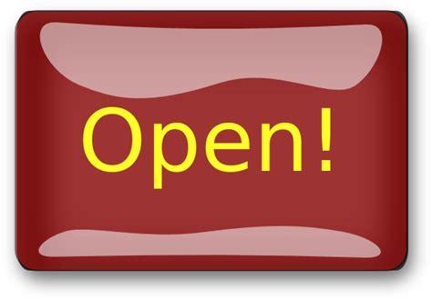 red rectangle open button clip art  clkercom vector
