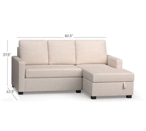 storage chaise sofa soma bryant upholstered sofa with storage chaise sectional