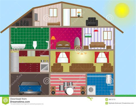 house interior vector house interior stock illustration image 38873772