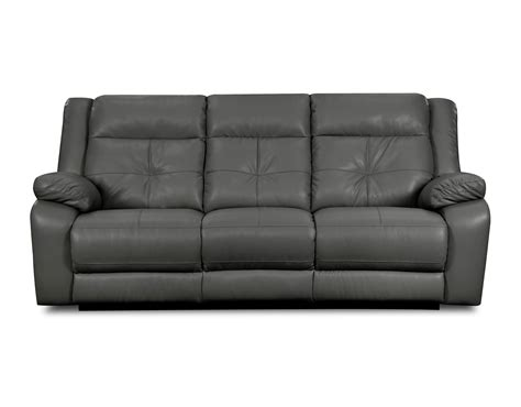 reclining bonded leather sofa sears