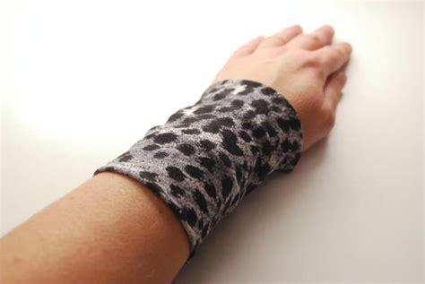 leopard print wrist tattoo items similar to leopard print stretch wrist cuff black