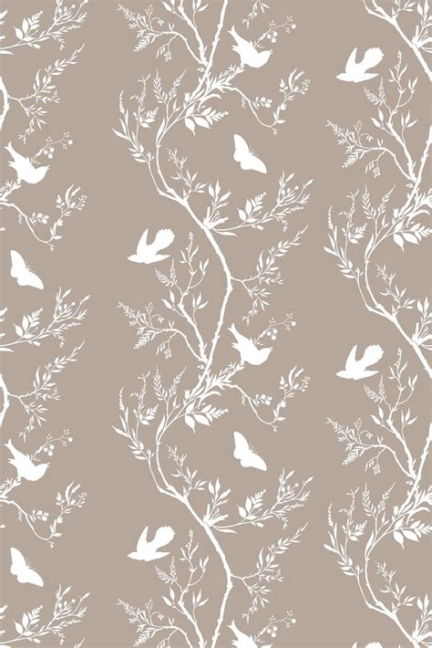 timorous beasties wallcoverings birdbranch stripe wallpaper