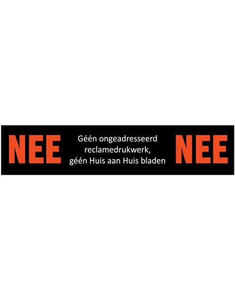 Sticker Gratis Bestellen by Sticker Quot Nee Nee Quot Dr Sticker