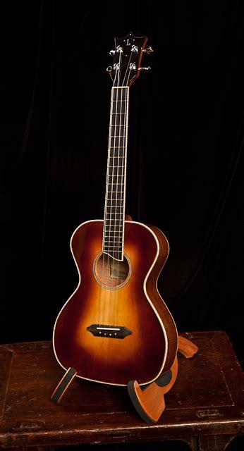 Handmade Ukulele - mahogany baritone ukulele sunburst finish lichty guitars