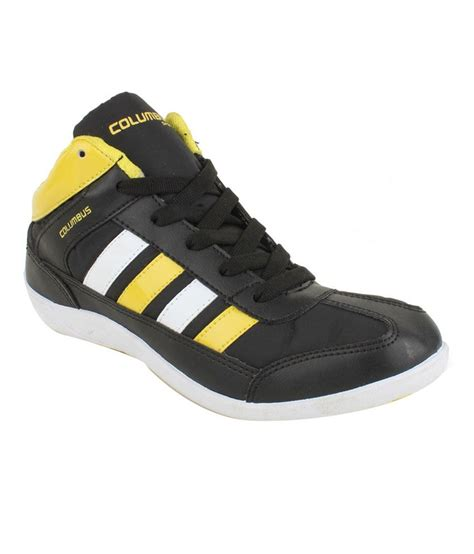black sports shoes columbus black sports shoes price in india buy columbus