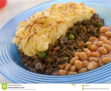 How To Bake Cottage Pie by Cottage Pie And Baked Beans Stock Image Image 5859791