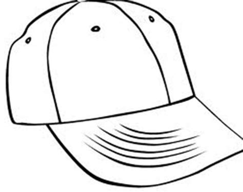 outline of a baseball cap clipart best