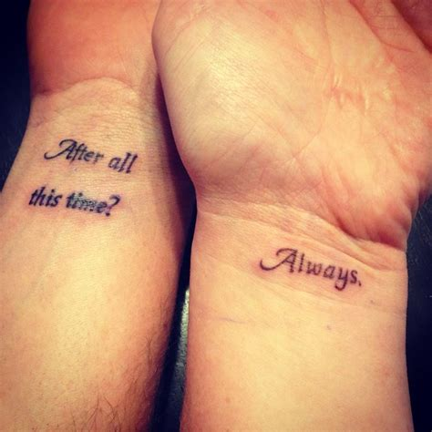 matching tattoos for couples quotes literary paraphernalia literary tattoos the