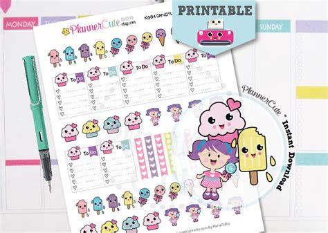 free printable kawaii planner stickers free printable kawaii planner stickers by plannercute