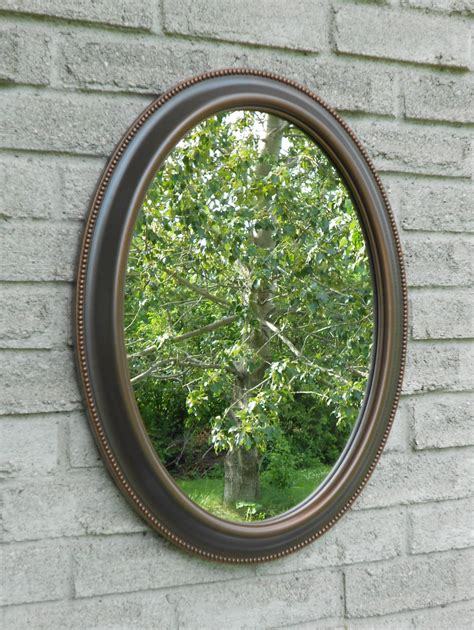 oval bathroom mirrors oil rubbed bronze wall oval mirror with oil rubbed bronze color frame