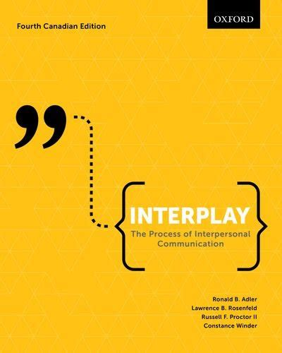 interplay the process of interpersonal communication books interplay the process of interpersonal communication
