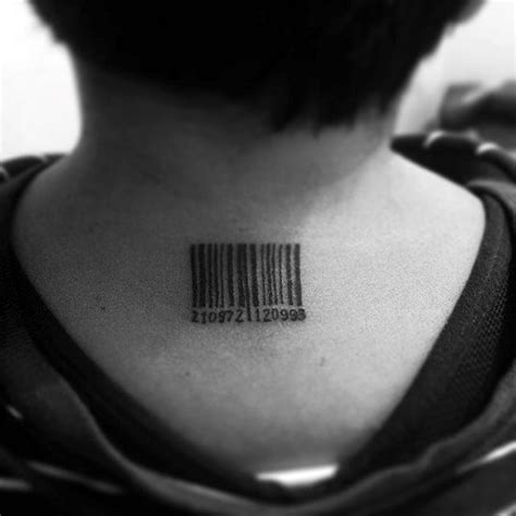 30 barcode tattoo designs for men parallel line ink ideas
