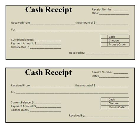 Template For Receipt When A Customer Wins Money by Customer Receipt Template Helloalive