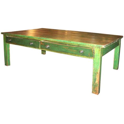 Sustainable Coffee Table Antique Green Coffee Table At 1stdibs