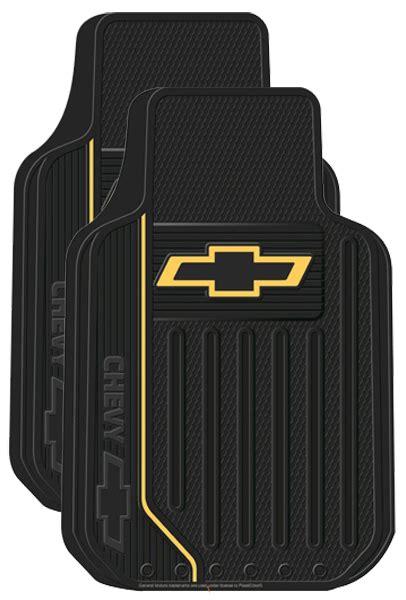 Chevy Floor Mats by Chevy Logo Rubber Floor Mats Pair Xxx1470pc