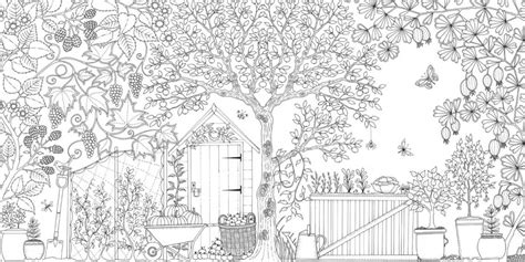 coloring pages of secret garden adult colouring books by laurence king