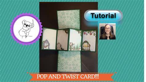 Twist Turn Card Template by Twist And Pop Card Tutorial