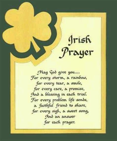 Irish Prayer, St. Patrick's Day   Catholic   Irish prayer