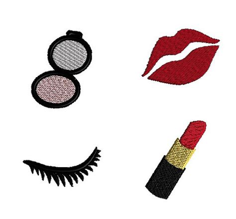 embroidery design making mini makeup machine embroidery design set instant download